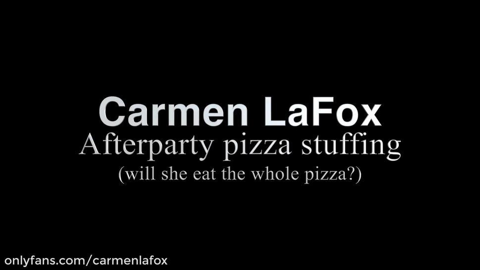 Fat girl pizza party