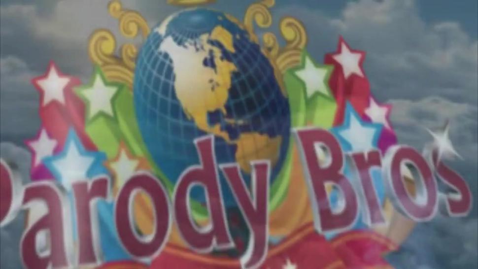 PARODY BROS - Sexy Brunette Handjob With parody Babe Making Fun