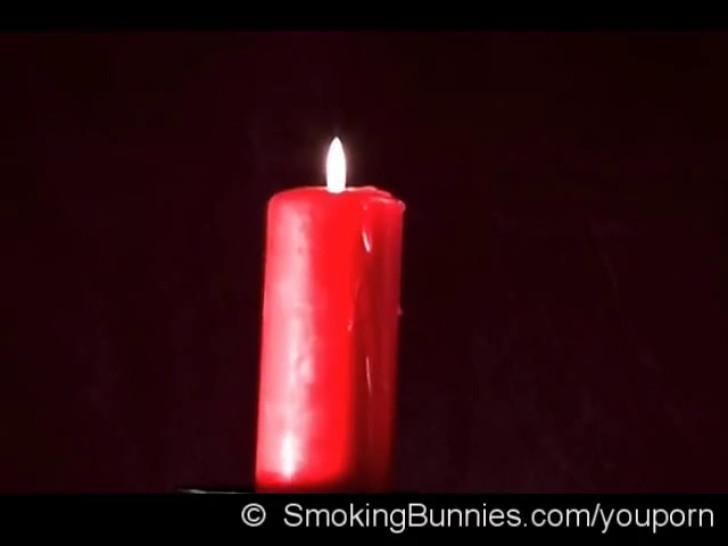 Smoking candle light with Eva