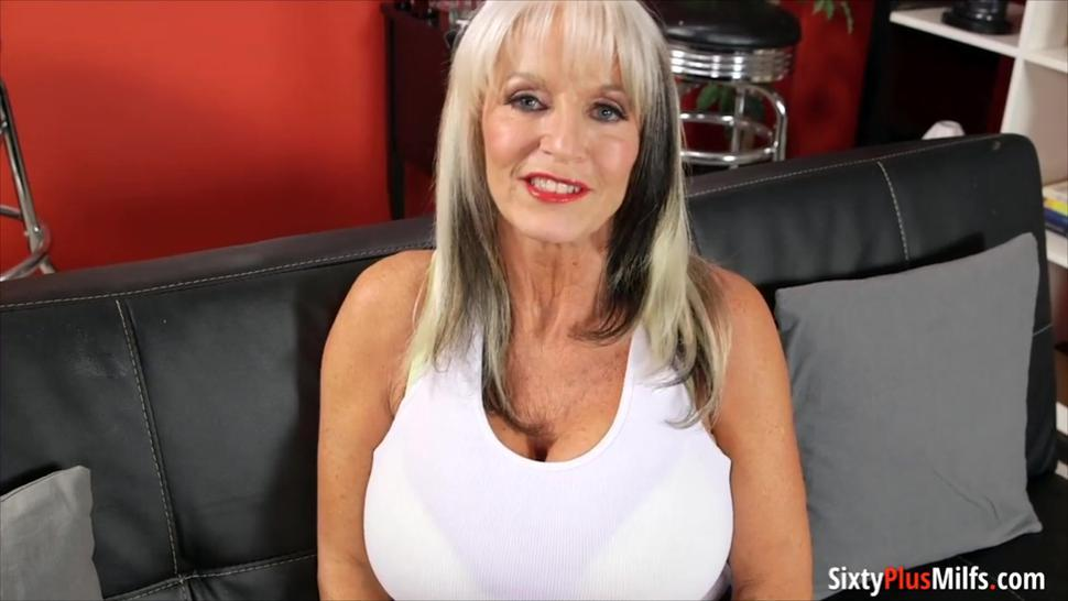 Busty mature blonde takes it in her ass