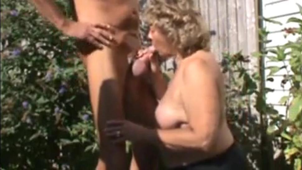 Giving good head in back yard