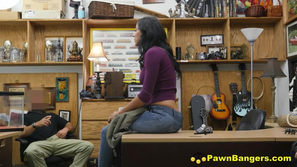 Stunning Latina Milf Paid Cash By Pawn Shop Boss To Let Him Screw Her