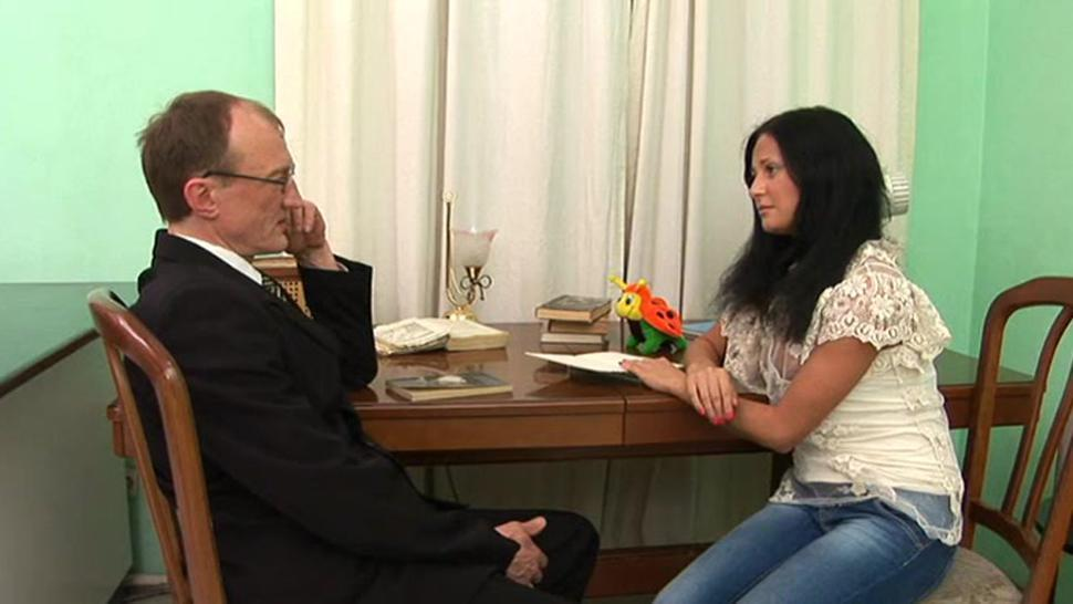 Sexual russian brunette ster blows well