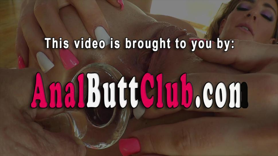 BUTTMAN - Fetish babe in high heels gets butt toyed