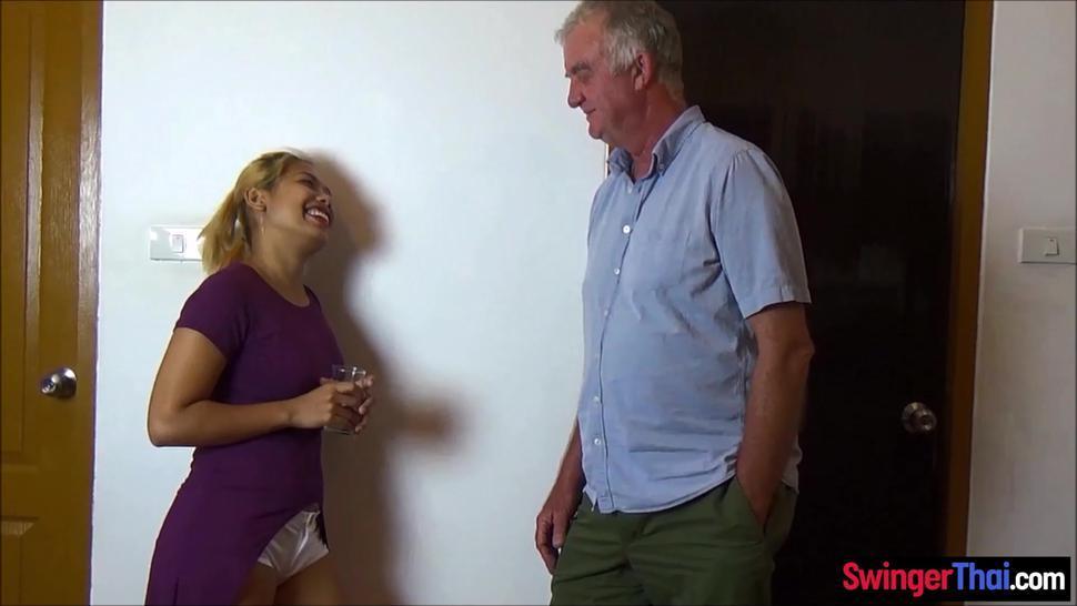 Strangers invited to fuck swinger couples Asian wife in bondage