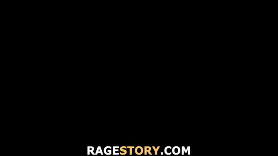 RAGESTORY - Tied up girlfriend gives deep head before hardcore sex