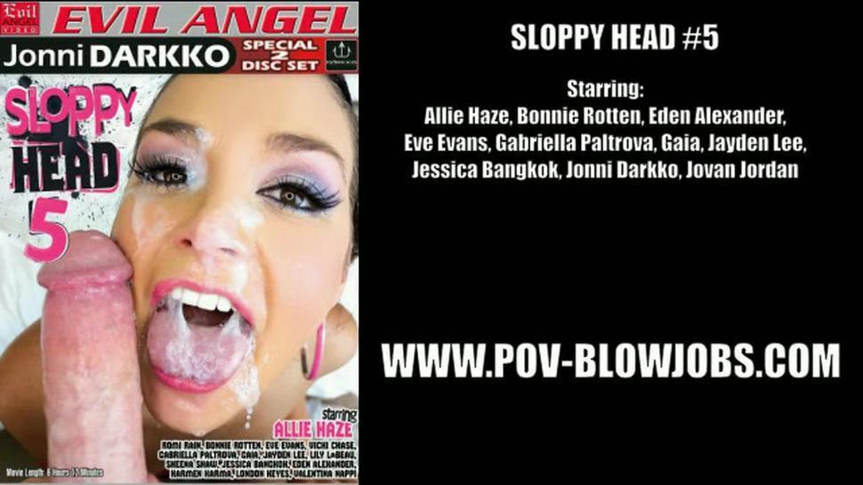 Sloppy Head - Allie Haze & Jessica Bangkok & Bonnie Rotten & Gabriella Paltrova