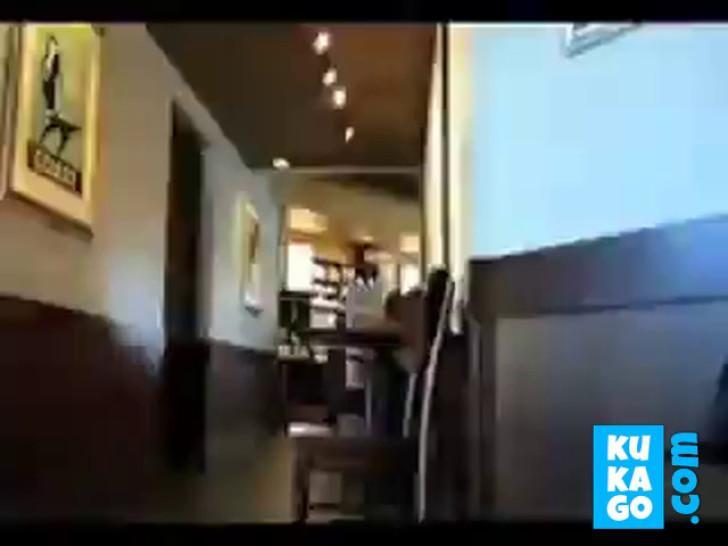 Hot flash at bar People walking around - video 1