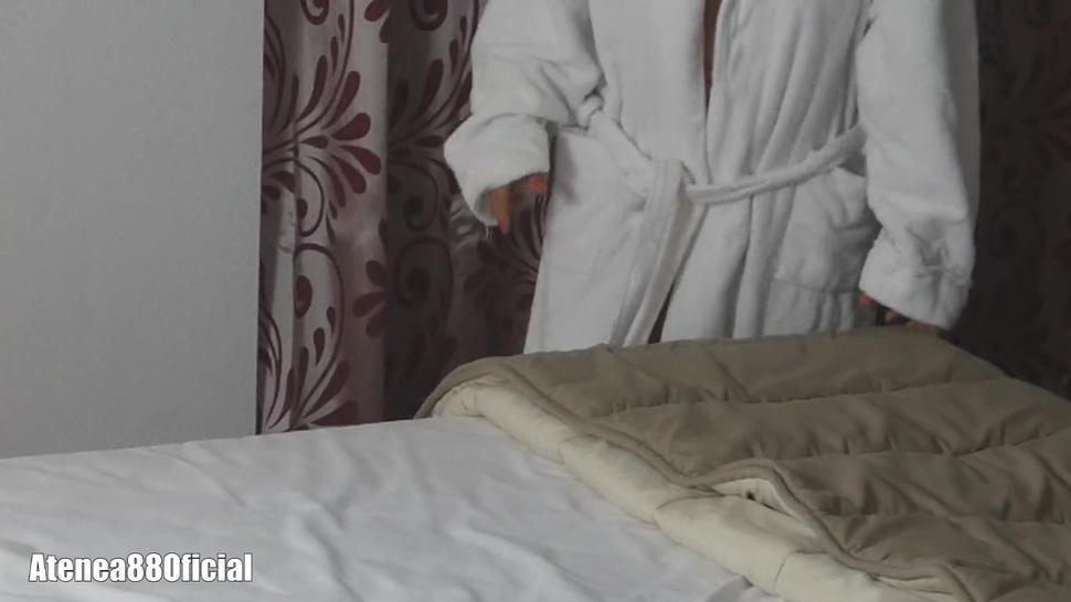My sister in law see boobs in bathrobe Big tits hard nipple