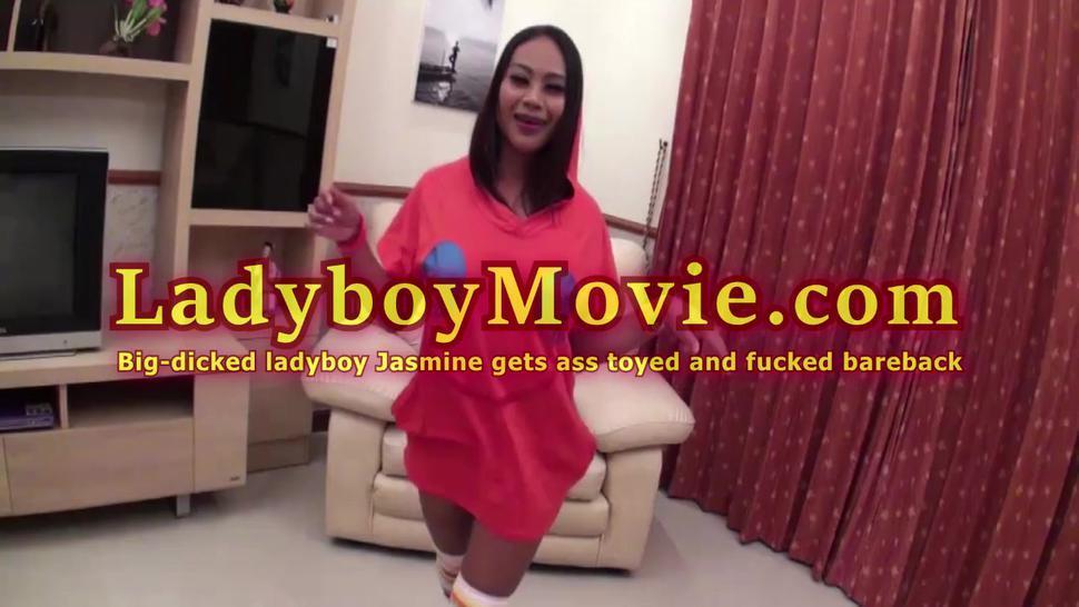 Hung Ladyboy Jasmine Ass Toyed And Fucked Bareback