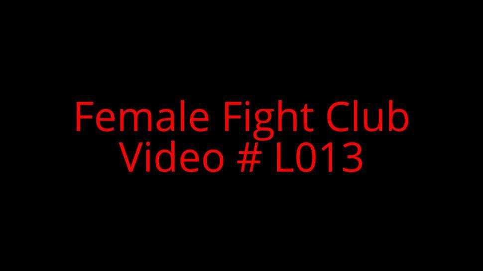 Female fight club in leather part 1