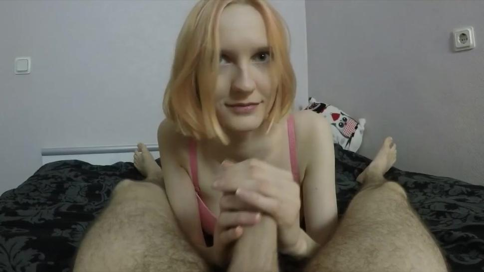 Busty Blonde Gives A Nice Blowjob In POV