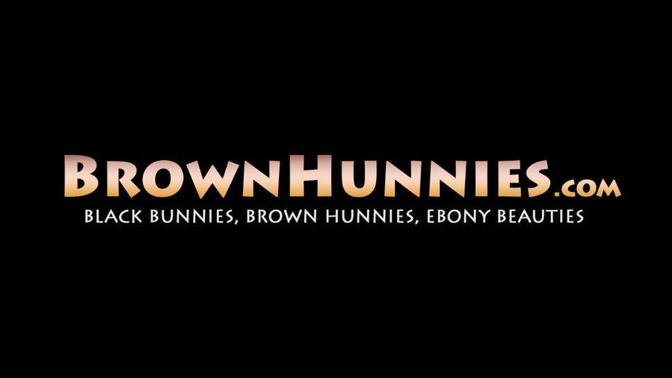 BROWN HUNNIES - Busty teen cutie Imani Rose sucks cock before hardcore fuck
