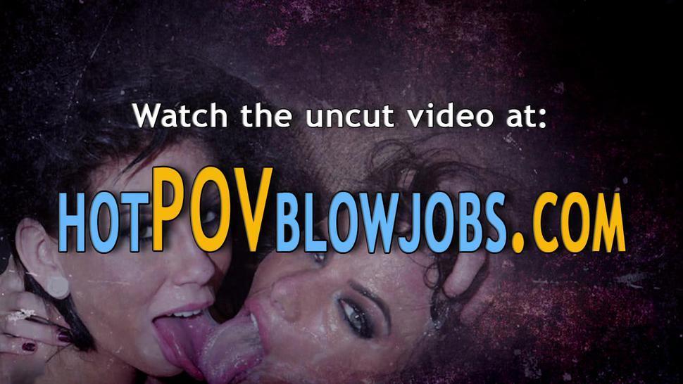 POV BLOWJOBS - Messy slut pov sucking and gagging