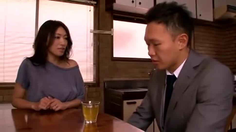 Japanese housewife seduces the school teacher