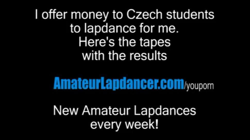 Busty czech MILF gives lapdance and handjob to kinky guy