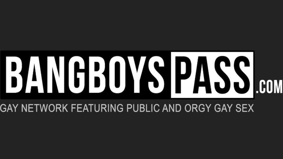 BANG BOYS PASS - Sexy jocks cum feeding after cock sucking raw shower orgy