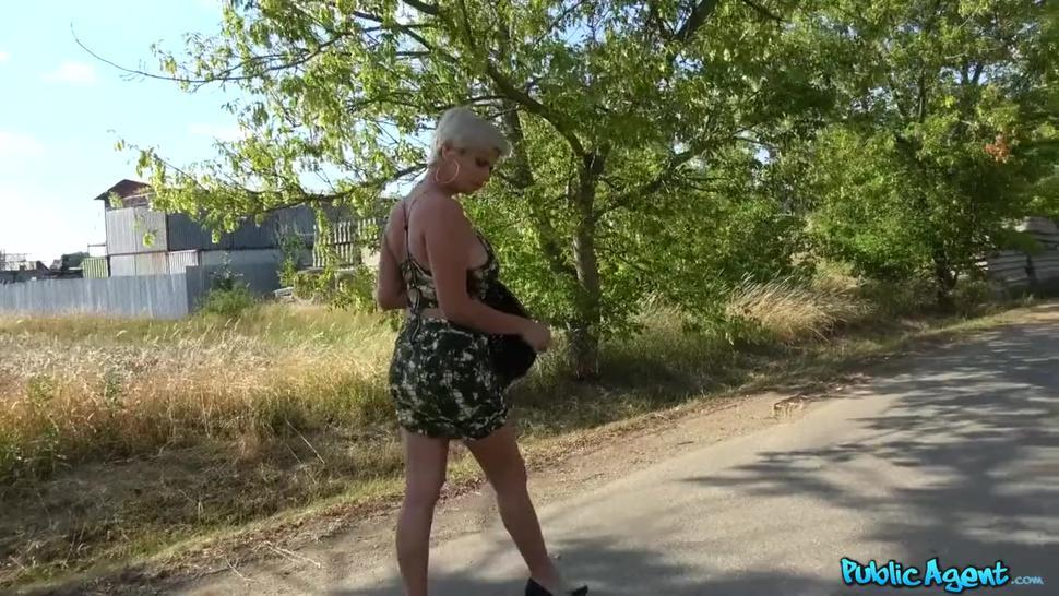 Public agent fucks busty MILF instead of casting