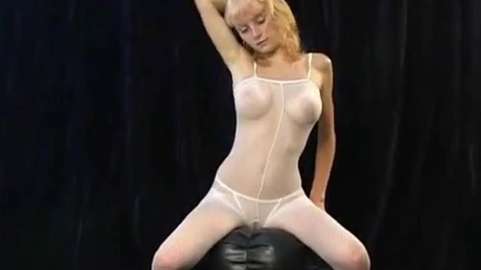 Marina topless cute sheer white tease