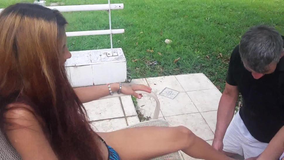 latina teen princess enslave her family to foot licking