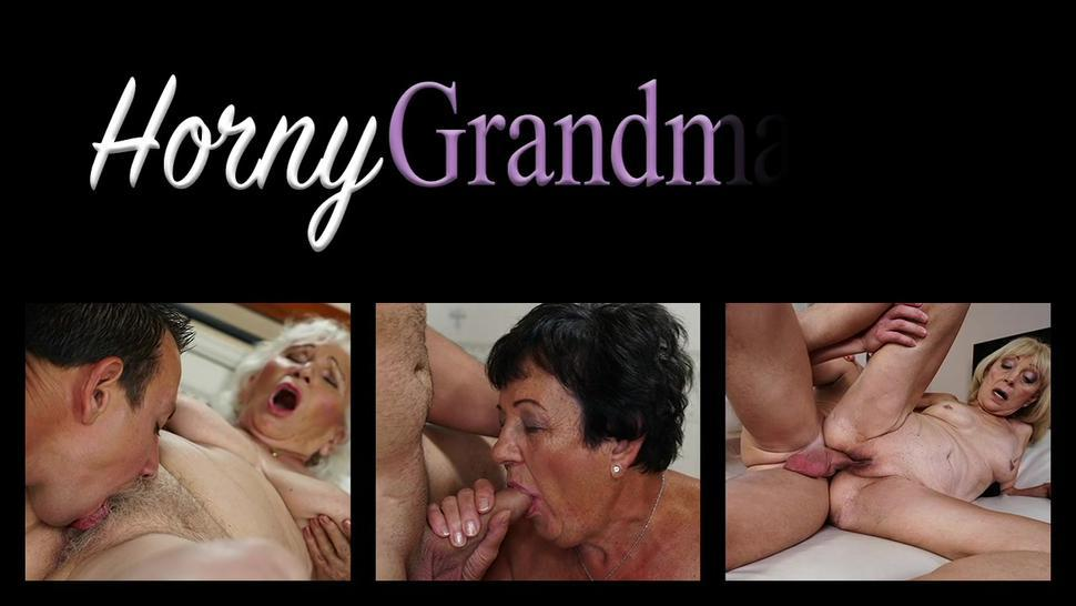 Wrinkled old granny sucks and rides cock