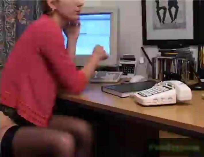 Secretary and a dildo at work