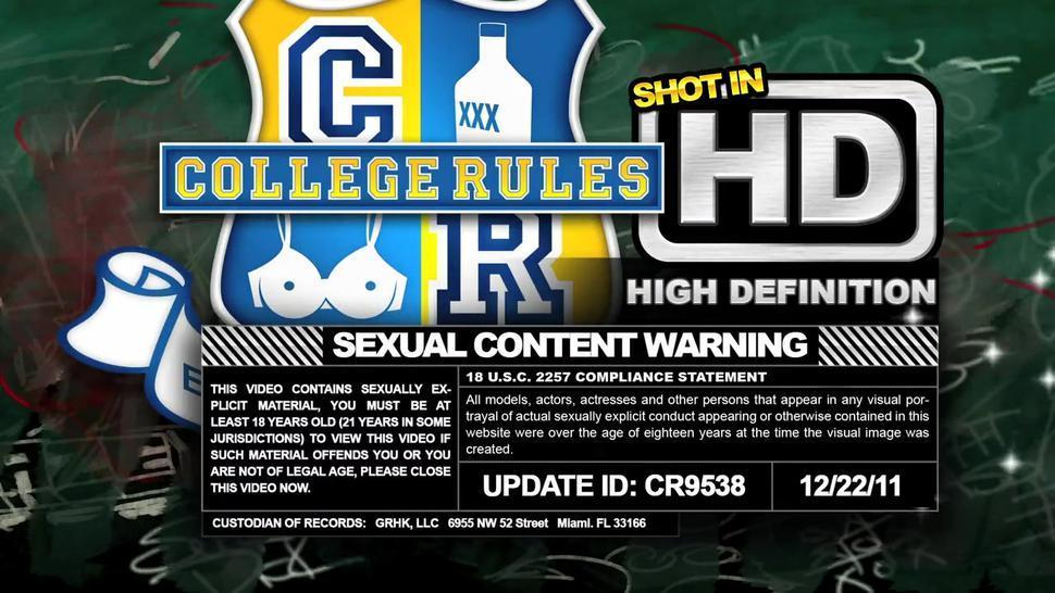 COLLEGERULES - Teen College Girls Just Wanna Have Fun (cr9538)