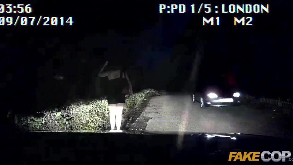 Fake Cop Bootyful spaniard rides cops dick
