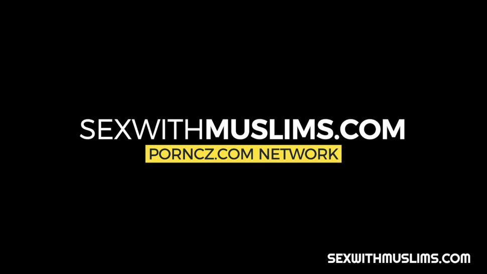 Chubby muslim caught watching porn