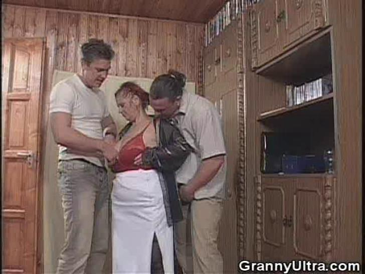 GRANNY ULTRA - Chunky Granny Sanwiched In A 3some
