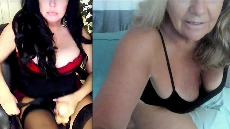 Milf watches another milf on cam and jerks off