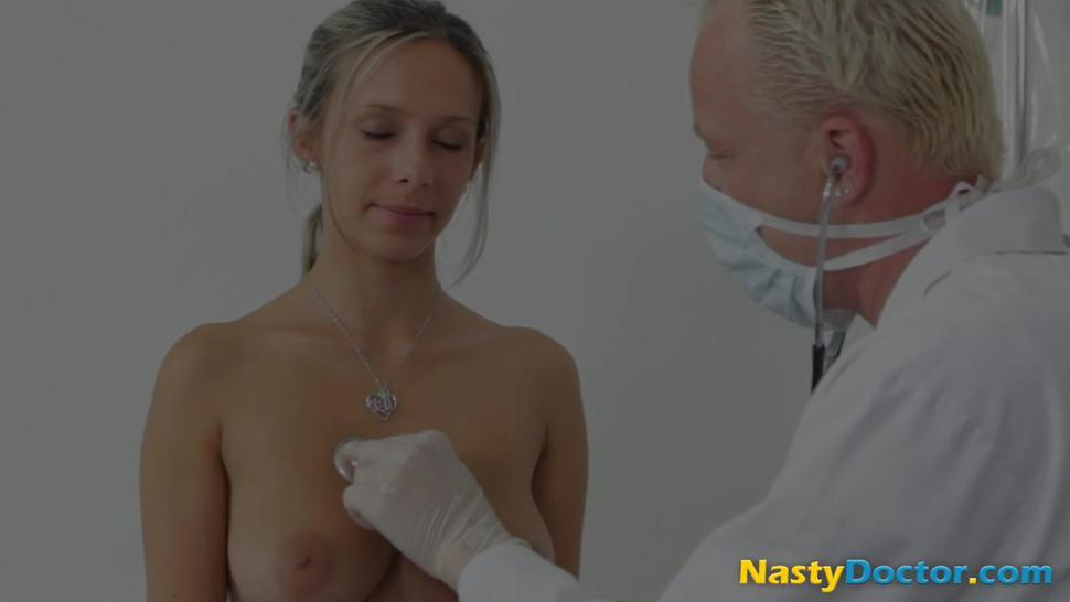 Sexy blonde loves going to her doctor office