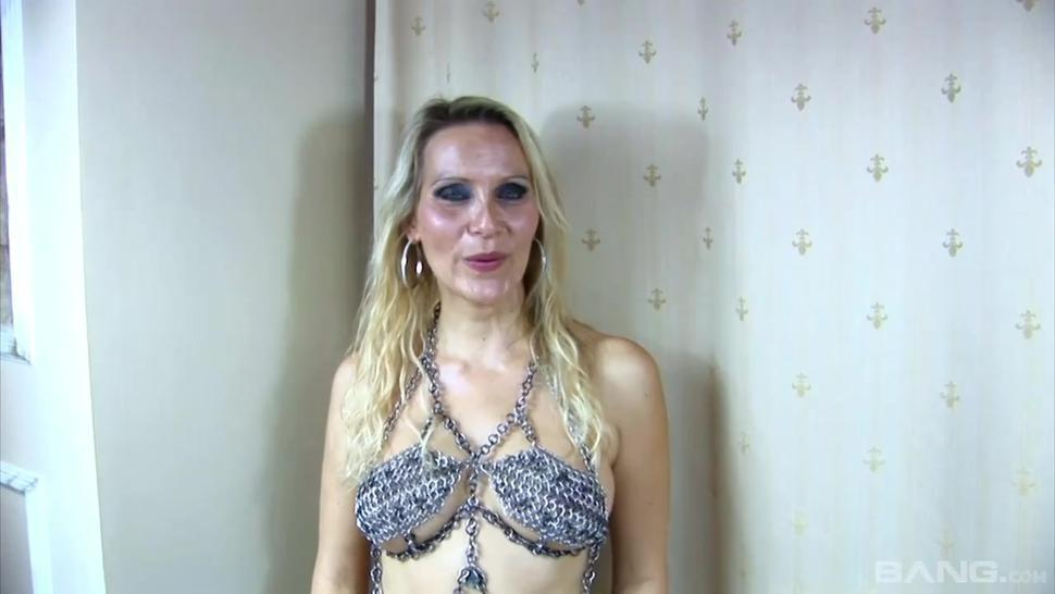 BANG.com - Julia Pink stays on her knees to please lover who's cum she swallows