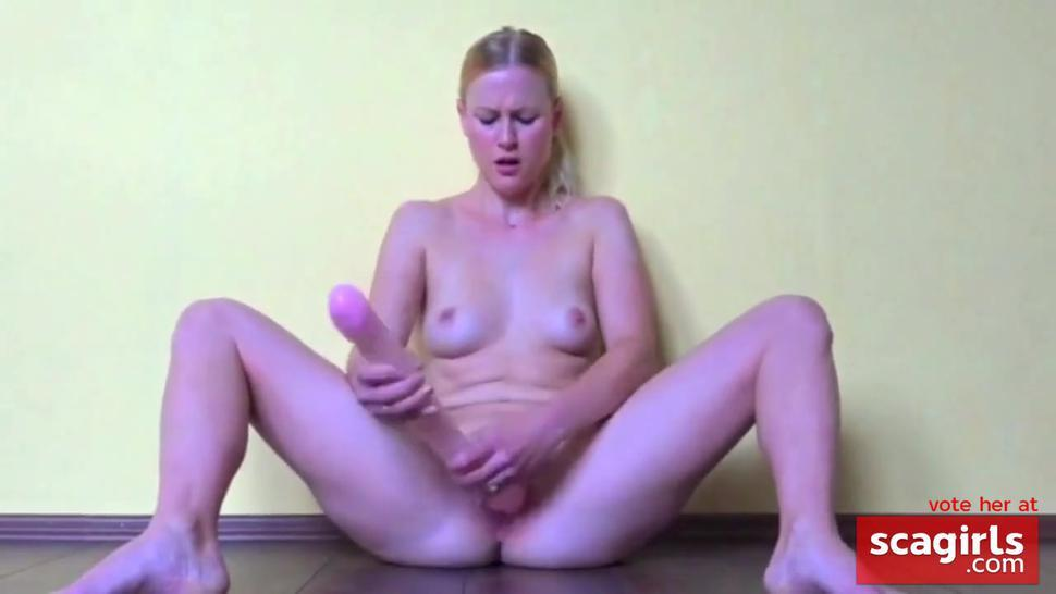 Blonde Squirting BigToys Orgasm