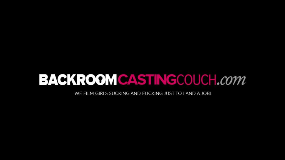 BACKROOM CASTING COUCH - Busty ebony Sierra creampied in first porn casting