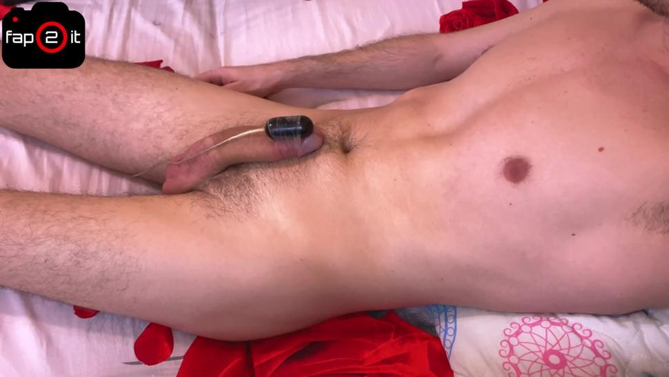 Hot Guy Moaning While Intense Orgasm Handsfree With Vibrations - 4K
