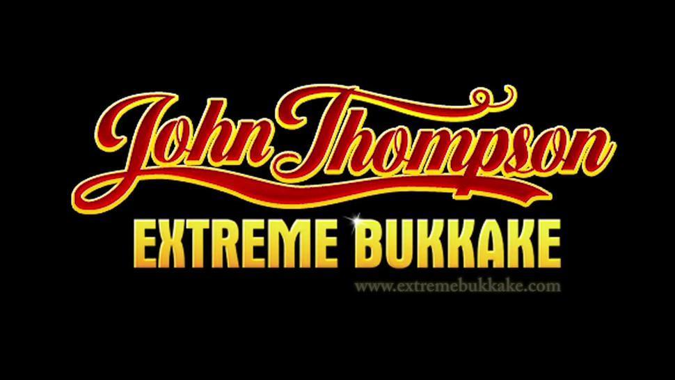 Little 18 years old Sarah-Ann first bukkake - Extreme Bukkake