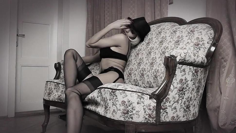 Teasing In Seamed Stockings