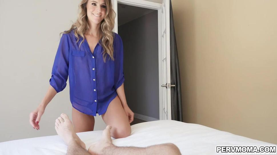 Tara took Logans cock in her living room and kicks him out before her husband gets home