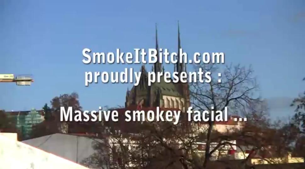 Brunette/smoking bitch blowjob it