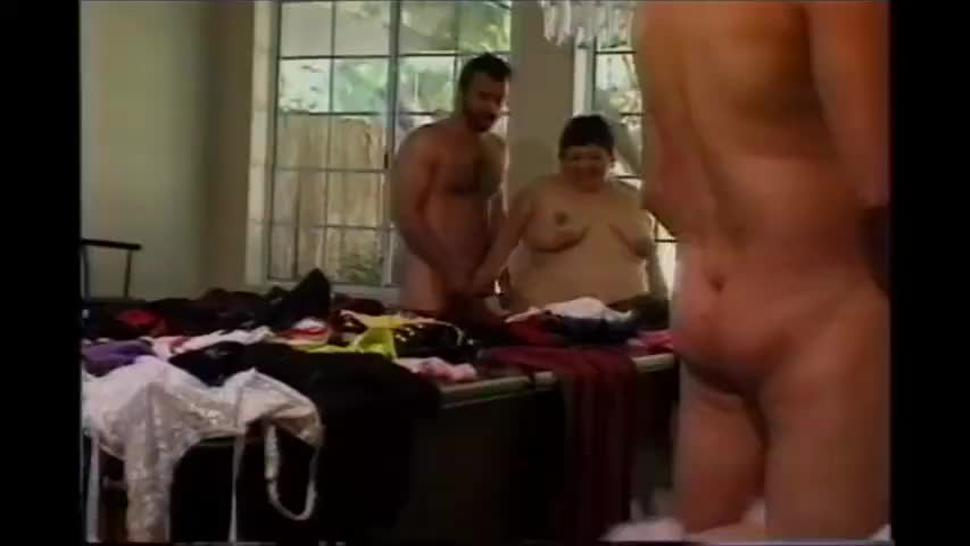 three males dressed in women's clothes sucked by three fat women (vintage-fetish).mp4