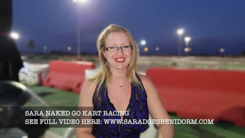 SARA go kart racing fun. Its all off NAKED RACING and cum on the track