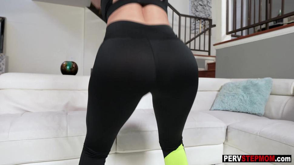 After hot workout MILF enjoyed big dick and gets fucked so hard