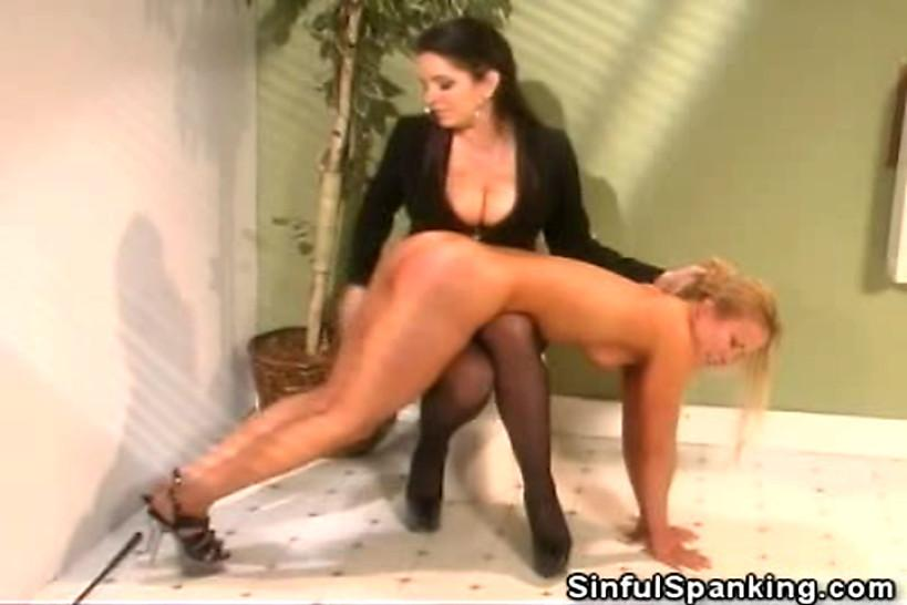 SINFUL SPANKING - No Sound: Female Boss Spanks Her Secretary