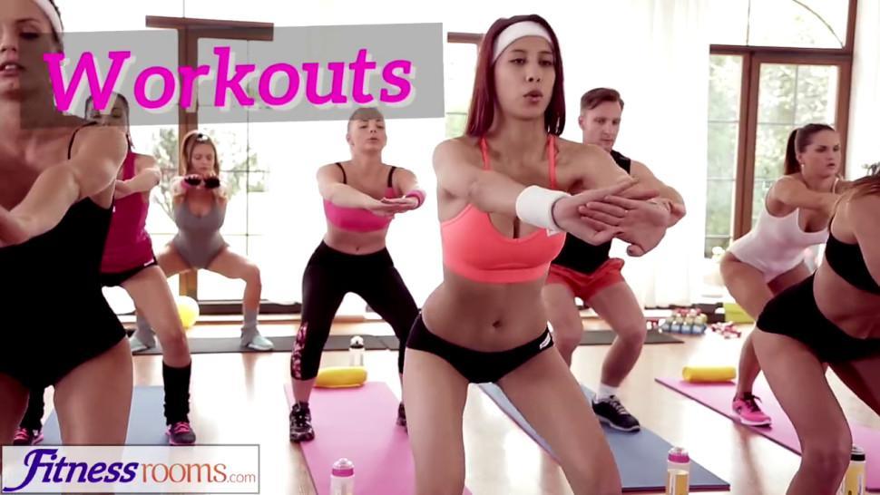 Fitness Rooms Hula hoop hotties get sex physical