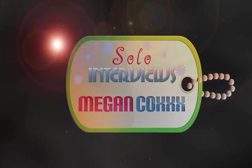 SoloInterviews Sexy Small tits brunette schoolgirl teen Megan Coxxx solo dildo - Solo Interviews