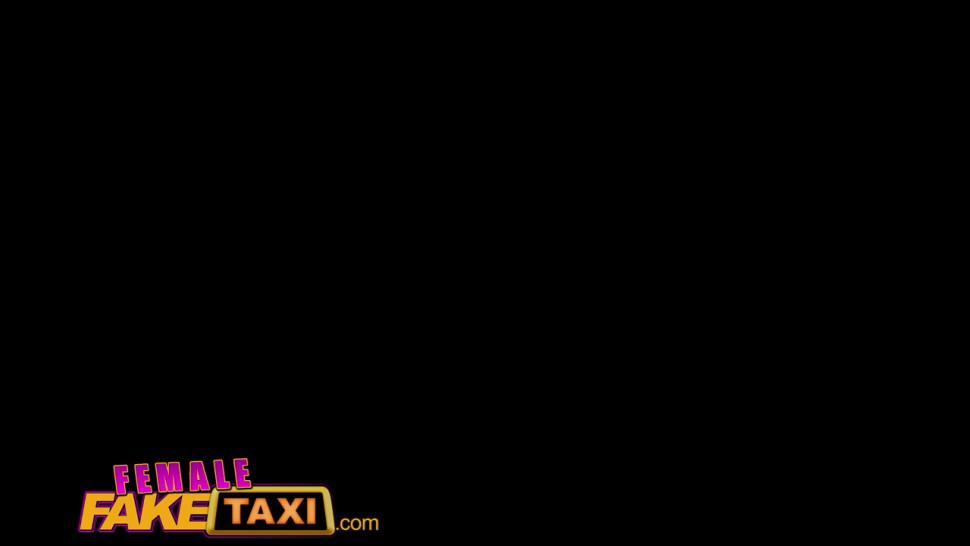 Female Fake Taxi Petite ebony cabbie with tiny shaven pussy fucks passenger - FemaleFakeTaxi
