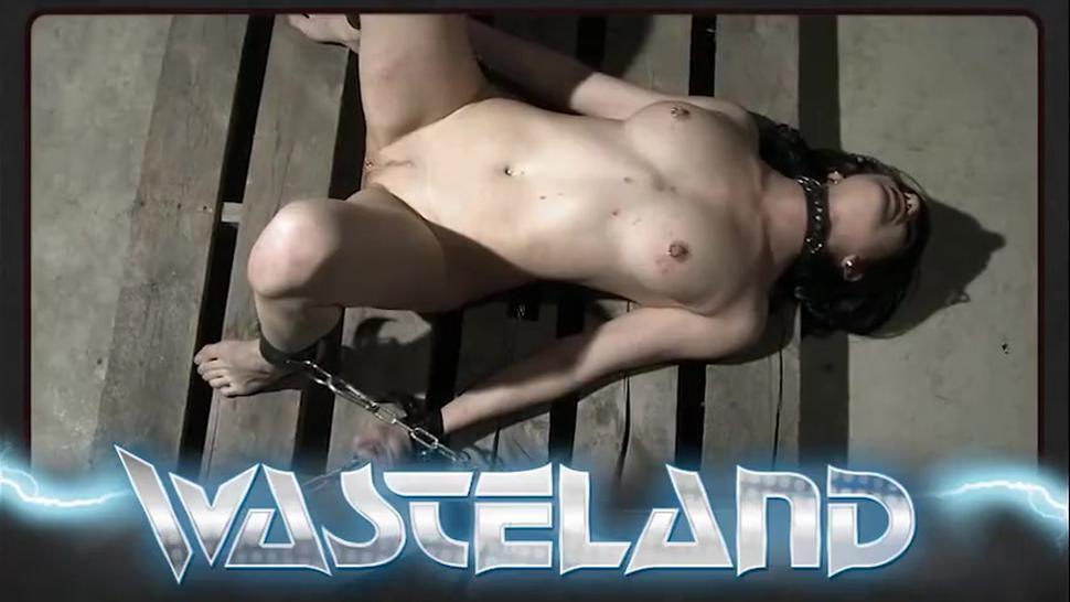 Lesbian Mistress pegs her slave girls nipples as she finger fucks her pussy
