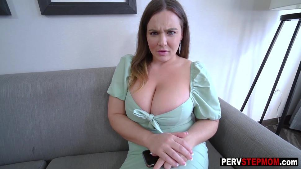 Wet big tits stepmom swallowed big hard penis in a hot POV style