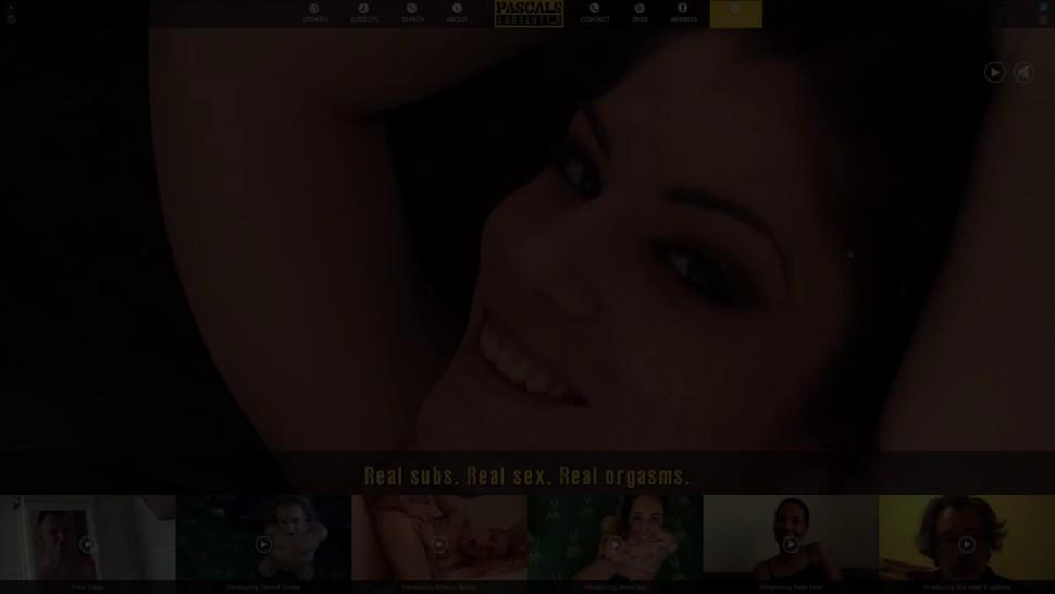 PASCALS SUB SLUTS - Teen submissive Kimber Woods swallows cum